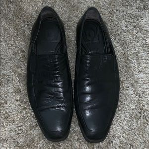 BRUNO MAGLI BLACK LEATHER LOAFERS